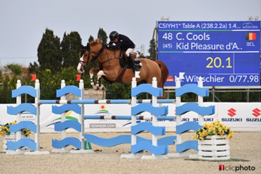 The competition for young horses in the Spring MET continues