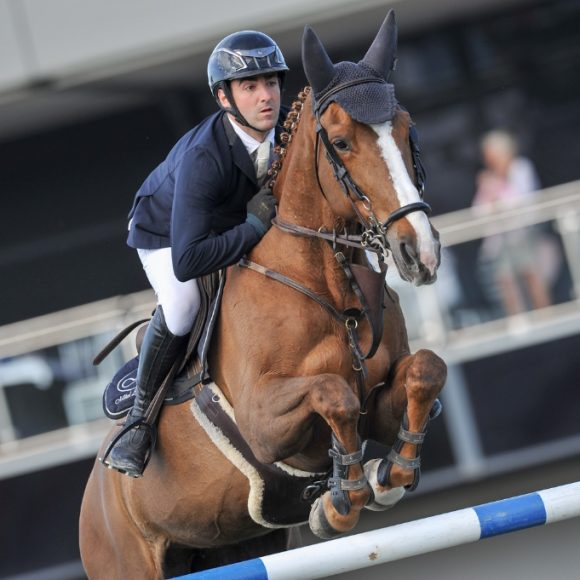 Mikel Aizpurua Quiroga makes it a home win in the CSI2* Grand Prix Presented by CHG at the Spring MET IV 2018