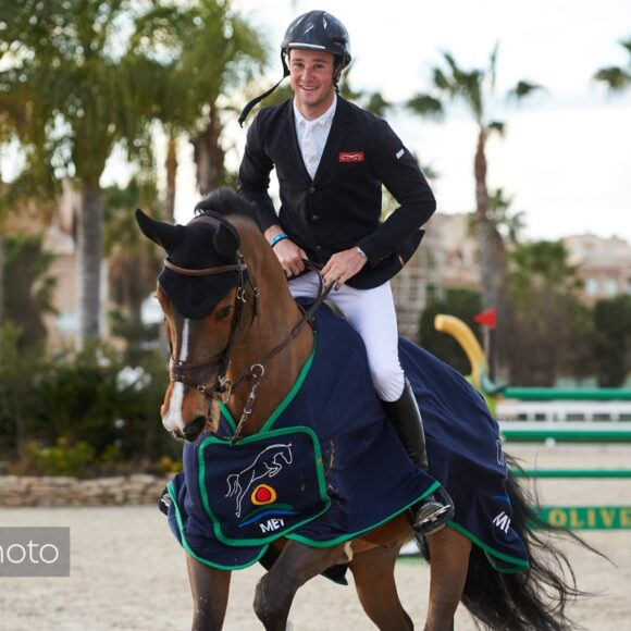 Constant Van Paesschen and Isidoor van de Helle make it two in a row with victory in Sunday's CSI2* Grand Prix presented by Oliva Nova Beach & Golf Resort