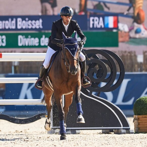 Harold Boisset best in the CSI2* Grand Prix presented by CHG at the Autumn MET