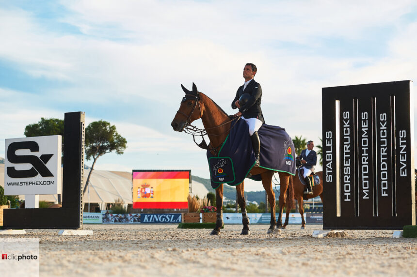 Sergio Álvarez Moya y Mariano Martínez Bastida brillantes durante el Mediterranean Equestrian Tour